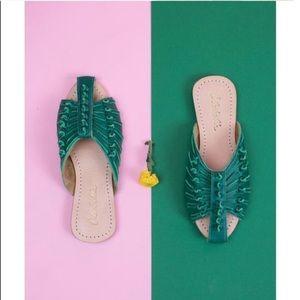 Cleobella Monroe Slides In Green size 39
